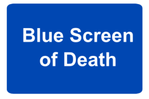 Grund eines Bluescreens
