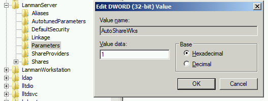 activate auto shares in registry
