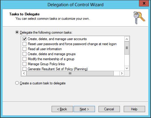 DSACLS Delegation Control