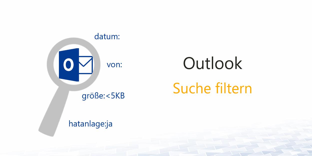 Outlook-Suchkriterien-Suchparameter