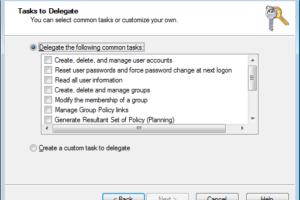 Active Directory Delegation Wizard um Tasks erweitern