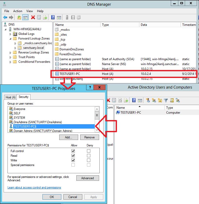 Computer-Objekt DNS records aktualiseren automatisch