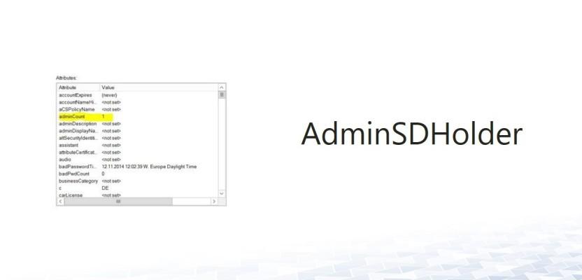 AdminSDHolder – Delegation auf Admin Accounts einrichten?