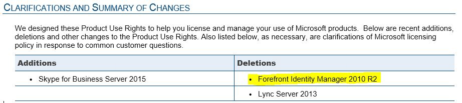PUR - FIM Synchronization Service lizenzkostenfrei
