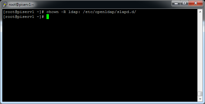 open ldap chown