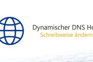 Groß- und Kleinschreibung eines dynamische DNS Host Eintrags ändern