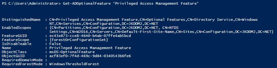 Privileged Access Management Feature