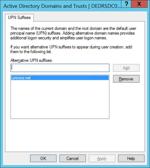 Azure AD User Principal Name UPN-local