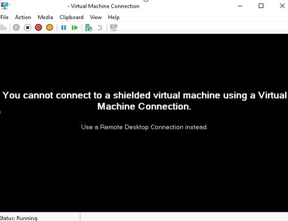 Virtual Machine Connection Ansicht