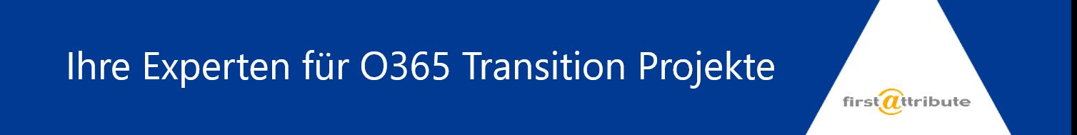 O365 Experten Transition Projekte