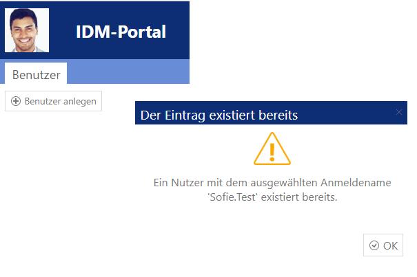 E-Mail Adresse mit IDM-Portal prüfen