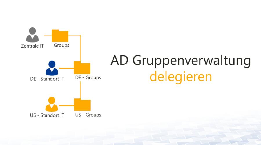 AD Gruppenverwaltung delegieren