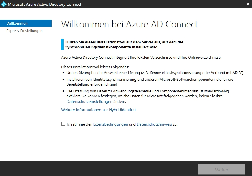 Verwalten von Azure AD Connect im Azure-Webporta
