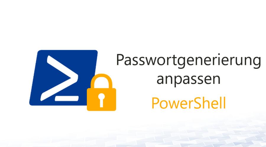 Passwortgenerierung nach Richtlinien-Änderung anpassen