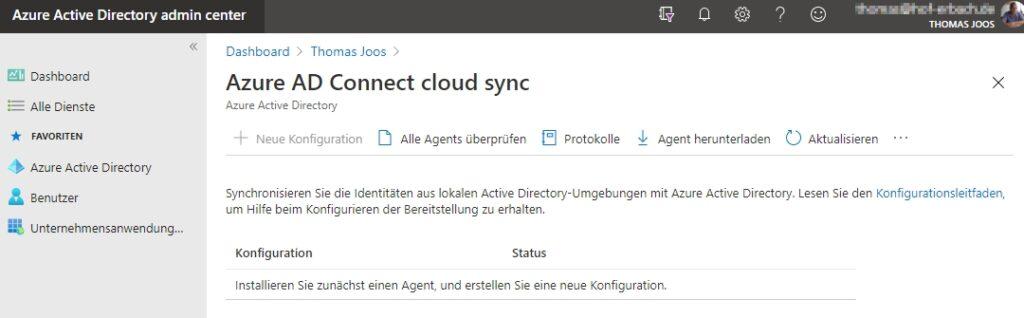 Verwalten von Azure AD Connect Cloud Sync im Azure AD Admin Center