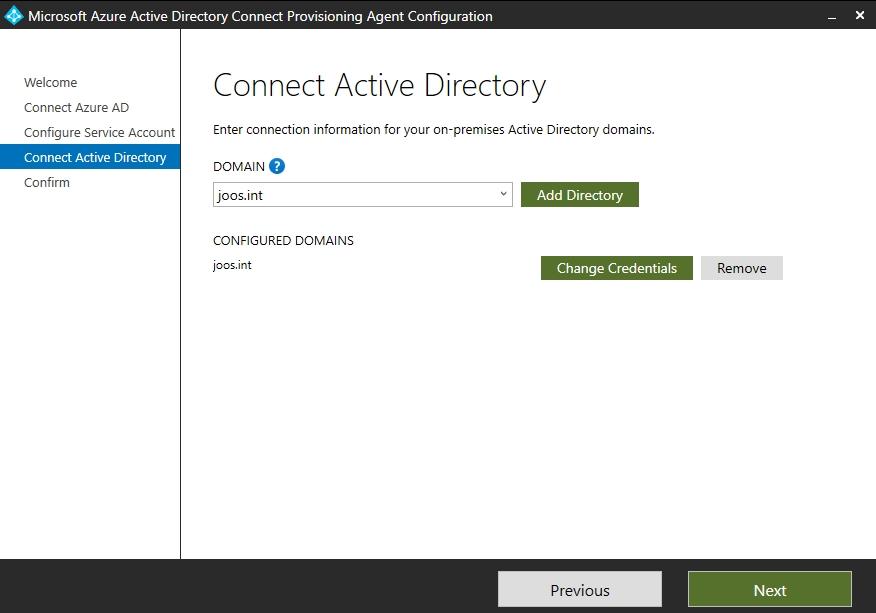 Anmelden an Active Directory mit dem Azure AD Connect Cloud Sync-Agenten