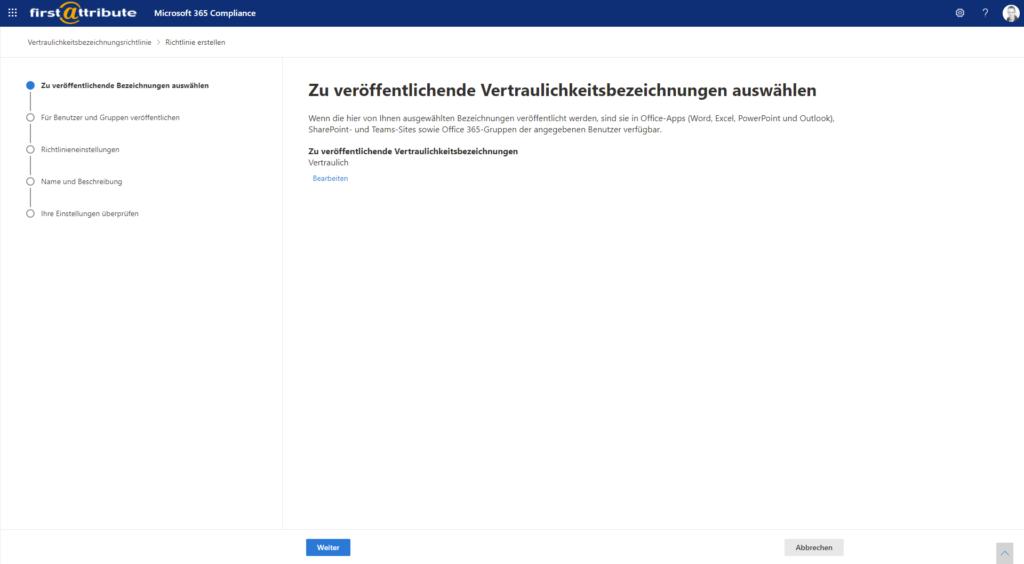 Microsoft 365 Compliance - Richtlinien erstellen