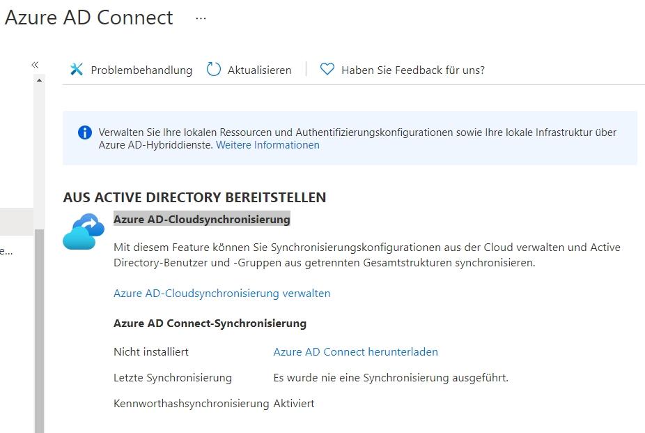 Steuern der Synchronisierung von Azure AD mit lokalen Active Directory-Umgebungen