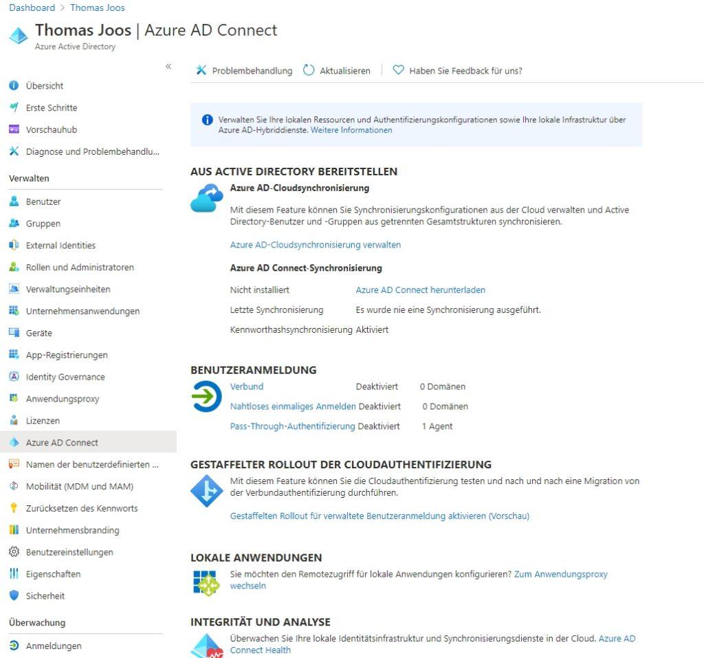 Synchronisieren lokaler AD-Umgebungen mit Azure AD