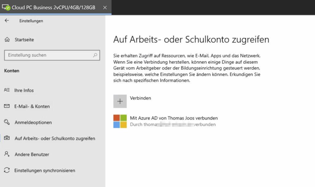 Registrierung von Windows 365 an Azure AD